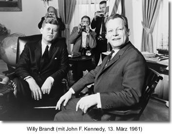 Willy Brandt (mit John F. Kennedy, 13. März 1961)